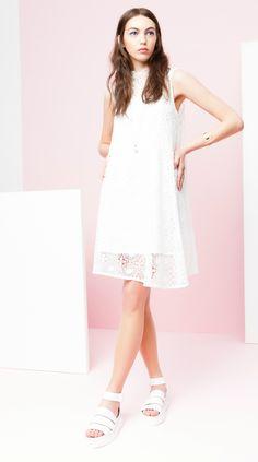 Rue8isquit Shift Lace Dress