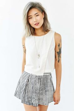 Lucca Couture Clean Crossover Tank Top - Urban Outfitters