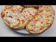 Eine schnelle Mahlzeit in 10 Minuten, schnell und lecker für alle. Wie man in Eile Pizza macht. - YouTube Quiche, How To Make Pizza, Snacks Für Party, Marzipan, Bruschetta, Relleno, Quick Meals, Baked Potato, Great Recipes