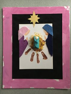 Easy Christmas Crafts for Kids to Make – Handprints and Footprints Precious Baby Jesus craft handprint manger Add felt Baby Jesus and star Christmas Crafts For Kids To Make, Kids Crafts, Homemade Christmas Cards, Preschool Christmas, Christmas Activities, Kids Christmas, Indoor Activities, Christmas Projects, Easy Crafts