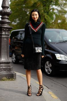 Lily Kwong in Joseph Altuzarra sweater knocking it out of the ballpark. Classy. Girl. #Alltheprettybirds.