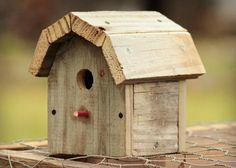 Miniature Birdhouse Rustic Barn Wood - reclaimed wood - gambrel roof - decorative bird house