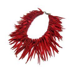 unique suede necklace