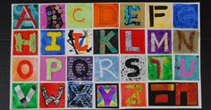 I have been wanting to pull this together for some time....a full set of alphabet inches.     For this set I tried to relate the material ...