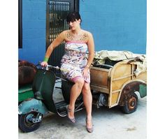 Danielle Colby Cushman from American Pickers & Scooter I love her tattoos, Vespa Girl, Scooter Girl, Scooters, Danielle Colby, American Pickers, Piaggio Vespa, Celebs, Celebrities, Celebrity Feet