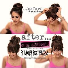Lazy Girl's Easy #Hairstyle with Faux Bangs | #hair tutorial