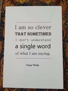 Oscar Wilde Quote Postcard Typography Design