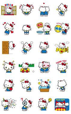 ¿Qué crees? Se animaron los stickers de Hello Kitty. Manda estas ternuras de stickers animados y atrapa el corazón de todos♪