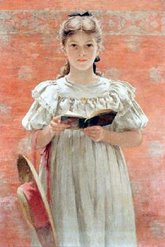 View Girl standing with book by Walter MacEwen on artnet. Browse upcoming and past auction lots by Walter MacEwen. Reading Art, Woman Reading, Kids Reading, Reading Books, People Reading, Book People, Auguste Macke, Illustrations, Illustration Art