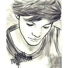 1D Drawings ❤ liked on Polyvore featuring one direction, louis tomlinson, drawings, images and art