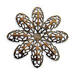 Vintaj Natural Brass Passion Flower Petal Filigree 42mm