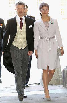 At the christening of Prince Oscar - Crown Prince Frederik of Denmark and Princess Madeleine of Sweden
