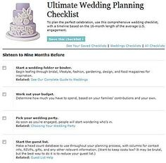 Wedding Detail Checklist  Wedding Planning Checklist Wedding