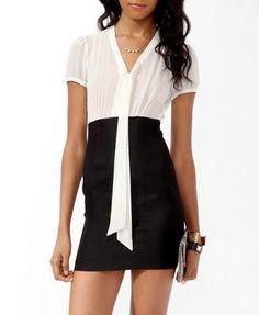 FOREVER Tie Collar Bodycon Dress  http://r.ebay.com/kE7BYC