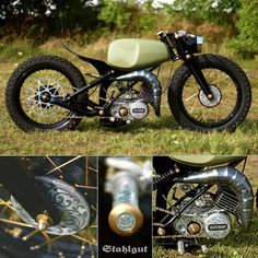 Custom Bikes, Custom Cars, Motorized Bicycle, Cafe Racer Motorcycle, Bike Art, Cool Bikes, Vespa, Chopper, Cars And Motorcycles