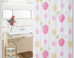 """72"""" by 72""""Sunflower Petals Thick Waterproof Mouldproof PEVA Shower Curtain with 12 Curtain Rings 804"""