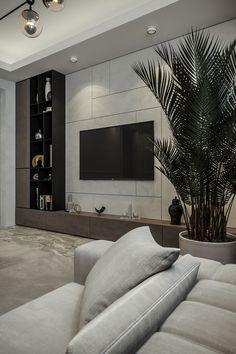 Living Room Wall Units, Living Room Tv Unit Designs, Home Living Room, Interior Design Living Room, Living Area, Small Living, Home Room Design, House Design, Modern Tv Unit Designs