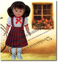 Vêtement MODES ET TRAVAUX août 1951, poupée 40 cm, Marie-Françoise et autres  ❤ Marie-Françoise ❤ en  jupe et chemisier Modes et Travaux - août 1951: 19,90 EUR