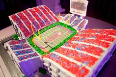 Ole Miss groom's cake, I like this but in crimson and white of course!