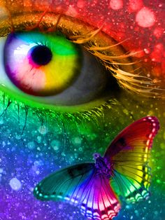 Colour my World Rainbow eye eye ♋єγє ѕєє ∂єє℘ !ητ⚬ γ⚬uя ѕ⚬uℓ #eye in color so amazingly beautiful #artistic art #spectacular colors