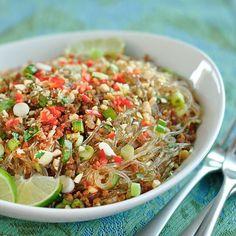 Spicy pork glass noodle salad http://www.thekitchn.com/thai-recipe-spicy-glass-noodles-with-crispy-pork-175093