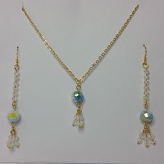 #crystal#goldplated#jewelleryset#jewellery#handmade#chain#millefiori#millefioricrystals#multicoloured#colourful#white#blue#green#yellow#gold#dangle#earring#earrings#pendant#necklacesand pendants#charm#gift#gifts#party#giftforher#giftformom#giftformum#mothersday#valentinesday#copper#flowers#giftformother