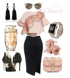 Stay Classy by heimi on Polyvore featuring polyvore, fashion, style, Marc Jacobs, Maticevski, La Perla, Valentino, Oscar de la Renta, Fendi and Bobbi Brown Cosmetics