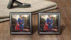 Supermans Gift Cuff Links - Superman Cufflinks - Superhero Gifts - Superman Present - Superman Gifts - Birthday Present - DC Comic Present Superman Gifts, Superhero Gifts, Groom Cufflinks, Wedding Cufflinks, Superhero Cufflinks, Wedding Gifts For Groom, Birthday Presents, Father, Fancy
