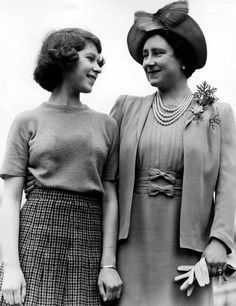 Elizabeth & Elizabeth...she loved her mother so much and looked to her for guidance throughout most of her reign while her mother was living!