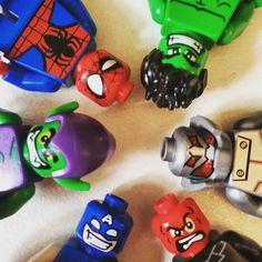 The best friends ever #lego #legos #minifigs #minifigures #legostagram #instalego #legogram #marvel #redskull #marvellego #legophotography #bricks #hulk #spiderman #goblin #captainamerica #ultron #mightymicros #marvellego by legoisnotjustforkids