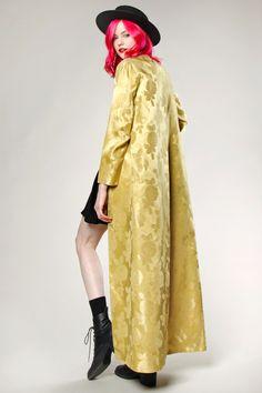 Vintage 1960s Long Gold Duster Coat #thriftedandmodern #1960s #fashion