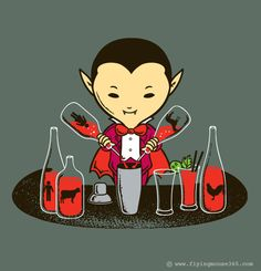 The Real Bloody Mary recipe. Funny Illustration by Chow Hon Lam.