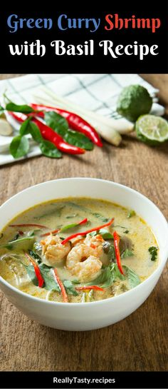 This is a fantastic and tasty way to serve up shrimp…make it into a curry! Better still, make it into a green curry and add some basil into the recipe, too. The result is a fantastic dish that just plain works…your family will love it.