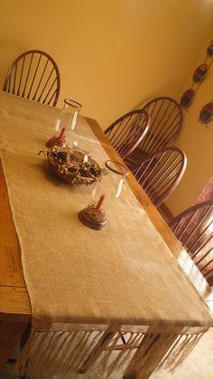 Custom Primitive Burlap Table Runner made to order by KarensKidz, $24.99