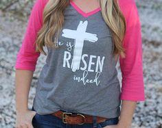 Easter Shirt Easter Cross Shirt Faith Shirt by fairytalesfireflies