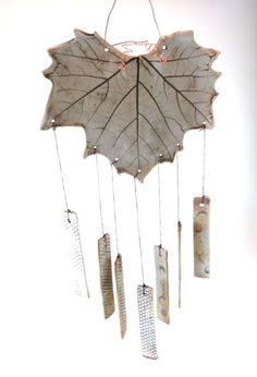Wind Chimes Garden Art Wind Chime Ceramic by Botanic2Ceramic, $38.00