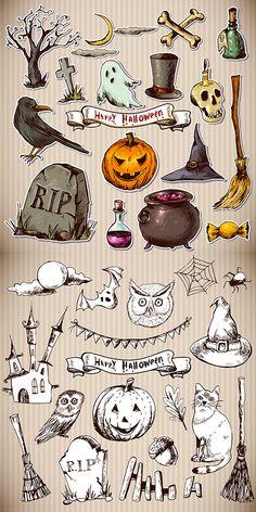 Halloween Illustrations #halloweenwallpapers #halloweenillustrations #halloweenicons #halloweendesign