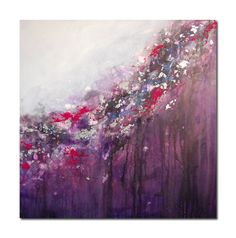 Original Painting Abstract Art Canvas Purple Grey by Tamarrisart