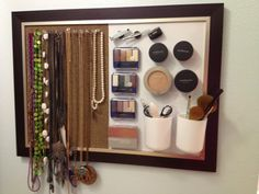 I've seen a lot of these magnetic makeup boards, but I love this one!