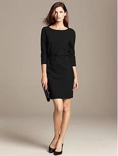 You could wear this Belted Ponte Sheath over and over for so many functions!