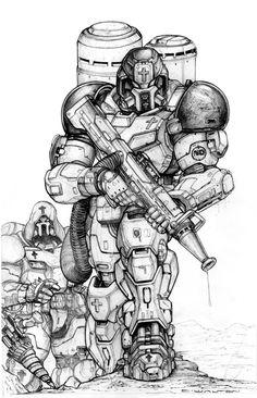 NG+XF103+Firefighter+Power+Armor+by+ChuckWalton.deviantart.com+on+@DeviantArt