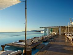 "Five-star hotel ""Cavo Tago"" on the Greek island of Mykonos Mykonos Hotels, Mykonos Town, Santorini Greece, Top 10 Hotels, Best Hotels, Hotel Am Meer, Cavo Tagoo Mykonos, Fine Hotels, Vacation Trips"