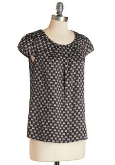 Steal the Show Top in Raccoons | Mod Retro Vintage Short Sleeve Shirts | ModCloth.com