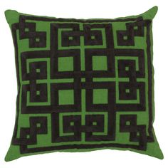 Oriental pattern graphic throw pillow