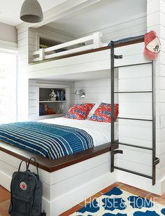 Bunkbeds were a splurge in this boy's bedroom. | Photographer: Kim Jeffery | Designer: Virginie Martocq