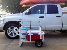 Beach cart custom made to fit cooler.