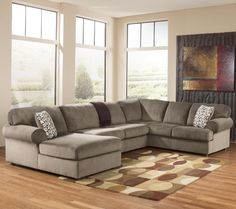 Jessa Place - Dune Sectional Sofa with Left Chaise by Signature Design by Ashley