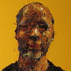 Craig Paul Nowak abstract drip portrait you me everybody yellow Drip Painting, Abstract Portrait, Jackson Pollock, Pictures To Paint, Paintings, Yellow, Hair Styles, Artist, Hair Plait Styles