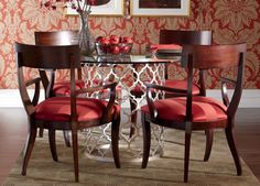 Ethan Allen Tracery Dining Table