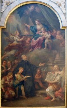 Sebastiano Conca, S. Giuseppe Calasanzio presenta ed affida alla Vergine Maria i suoi fanciulli, 1763, chiesa di S. Agostino o di S. Giuseppe Calasanzio, Siena